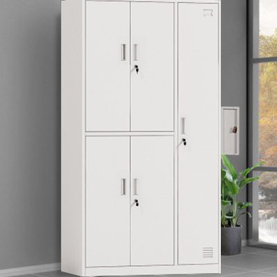 lateral full height  5 door metal locker cabinet wo